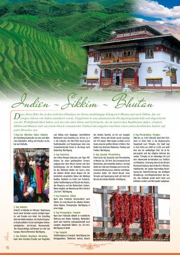 Indien - Sikkim - Bhutan