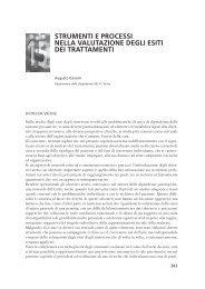 Strumenti e processi nella valutazione degli esiti dei ... - Dronet