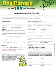 Day Camps Booking Form Jan 9.pub - Ontario Science Centre