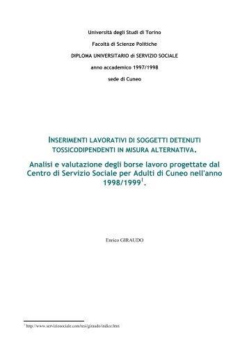 Analisi e valutazione degli borse lavoro progettate dal ... - Dronet