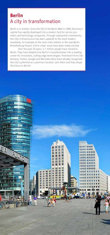 Berlin A city in transformation - Business Location Center