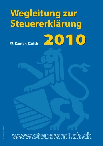 Steuererklärung - Kantonales Steueramt Zürich - Kanton Zürich