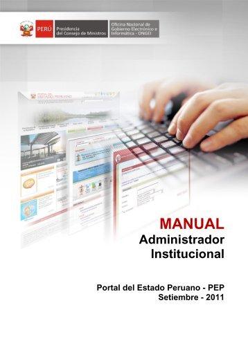 MANUAL - Portal del Estado Peruano