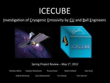 ICECUBE - Aerospace Engineering Sciences Senior Design Projects