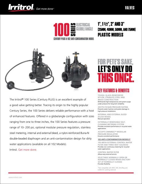Irritrol OMR-30 5-30 psi OMNIREG Modular Pressure Regulator