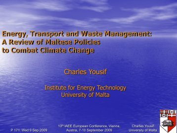 Energy, Transport and Waste Management - AAEE
