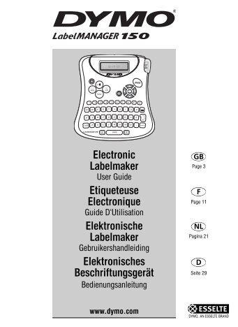 Electronic Labelmaker - DYMO