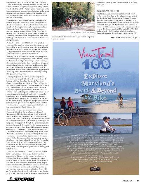 August 2011 - Spokes Magazine