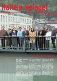 November 2008 ...wir bewegen Hallein - ÖVP Salzburg