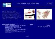 Eine gesunde Hand auf der Maus - Technische Universität Wien