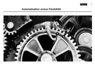Automation versus Flexibilität - VSD