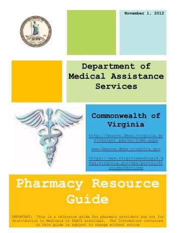Pharmacy Resource Guide - Department of Medical Assistance ...
