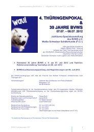 4. THÜRINGENPOKAL & 30 JAHRE BVWS - Weiße Schweizer ...