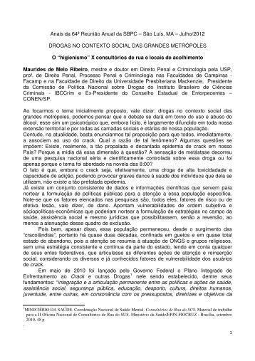 Maurides Ribeiro - Sociedade Brasileira para o Progresso da Ciência