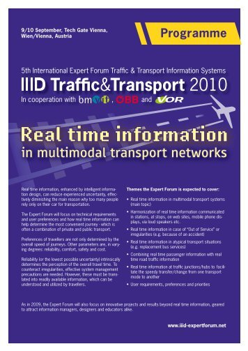 Programme PDF - IIID Expert Forum Traffic Guiding Systems