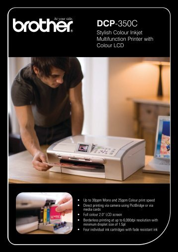 710890 DCP-350C A5 Leaflet aw - Brother