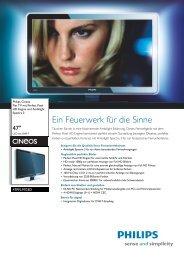 47PFL9703D/10 Philips Flat TV mit Perfect Pixel HD Engine ... - Prad
