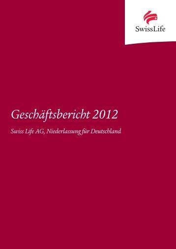Geschäftsbericht 2012 - Swiss Life