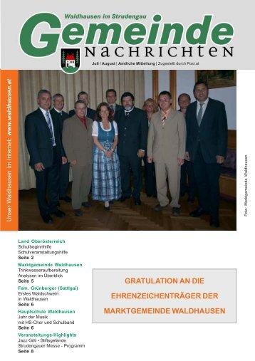 Gemeinde-Nachricht 2010-07.pmd - Marktgemeinde Waldhausen ...