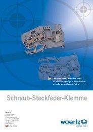 Schraub-Steckfeder-Klemme - Woertz Carolina Inc.
