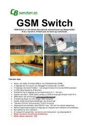 CBS GSM - Switch - CB Svendsen A/S