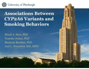 Associations Between CYP2A6 Variants and Smoking Behaviors
