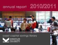20010/2011 Annual Report - Kwantlen Polytechnic University