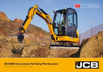 8018/8020 Conventional Tail Swing Mini Excavator - Interhandler
