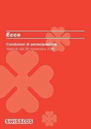 Condizioni generali di partecipazione Ecco - Swisslos Swisslos