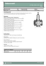 Produktbladför Reducerventil - Armatec