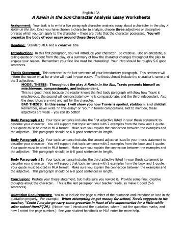 Sample Character Analysis Character Analysis Character Outline