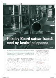 Fiskeby Board satsar framåt med ny fastbränslepanna - Armatec
