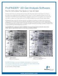 ProFINDER™ 2D Gel Analysis Software: Find 50-100 ... - PerkinElmer