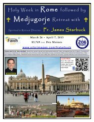 Holy Week in Rome followed by Medjugorje Retreat with - 206 Tours