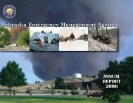 2006 Annual Report - Nebraska Emergency Management Agency ...