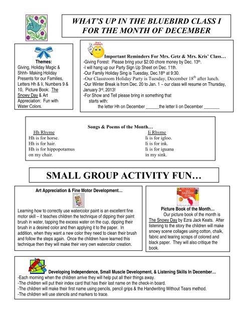 SMALL GROUP ACTIVITY FUN… - Giving Nest Preschool