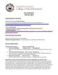 Pre-law Bulletin February 2013 - Cornell University