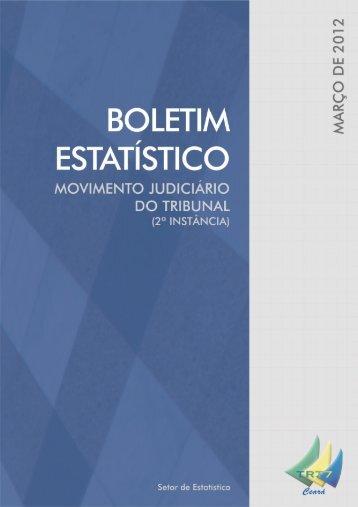 Boletim Estatístico 03/2012