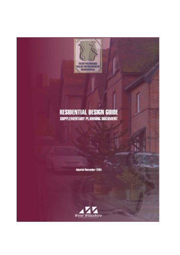 Residential Design Guide SPD (Adopted ... - Wiltshire Council