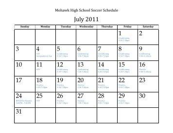 July 2011 1 2 3 4 5 6 7 8 9 10 11 12 13 14 15 16 17 ... - eSchoolView