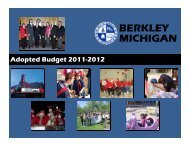 Adopted Budget for Fiscal Year 2011-2012 - City of Berkley