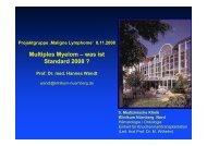 Multiples Myelom/Plasmozytom:Was gilt heute als ... - Tumorzentrum