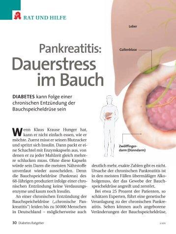 Pankreatitis-Artikel im Diabetes Ratgeber März 2011 - TEB e.V.