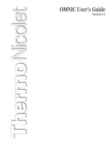 Thermonicolet Omnic Software User's Guide 6.1 (PDF) - Charles E ...