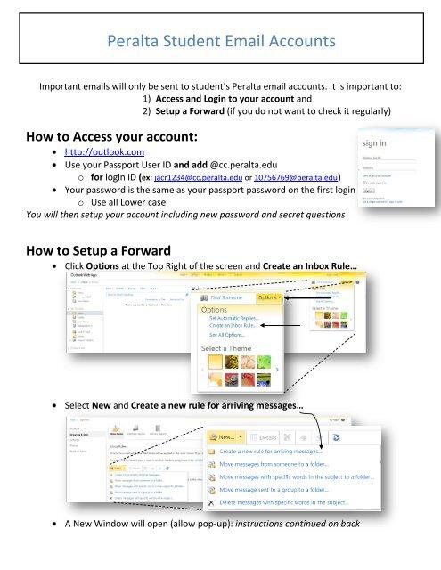 Setup Peralta Email & Forward