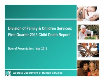 First Quarter 2013 - Department of Human Services