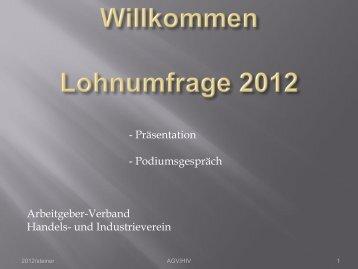 Lohnumfrage 2012 - Handels- und Industrieverein des Kantons Bern