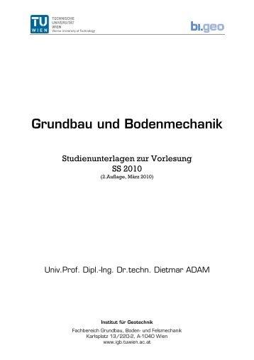 0. Inhaltsverzeichnis (2010) - Forschungsbereich Grundbau, Boden ...