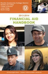 Financial Aid Handbook 2013-2014 - Peralta Colleges