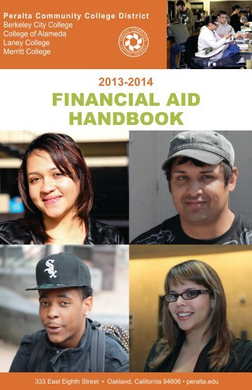 Financial Aid Handbook 2013-2014 - Peralta Colleges